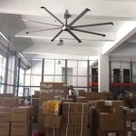 Diamond fan at warehouse