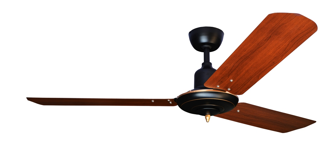 Colonial Matt Black (brass trim) With 3M Dark Teak Blade AC Motor Fan