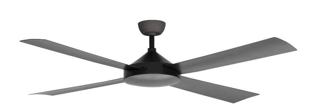 Contemporary Milano Matt pewter No Light (4 Blade) AC Motor Fan