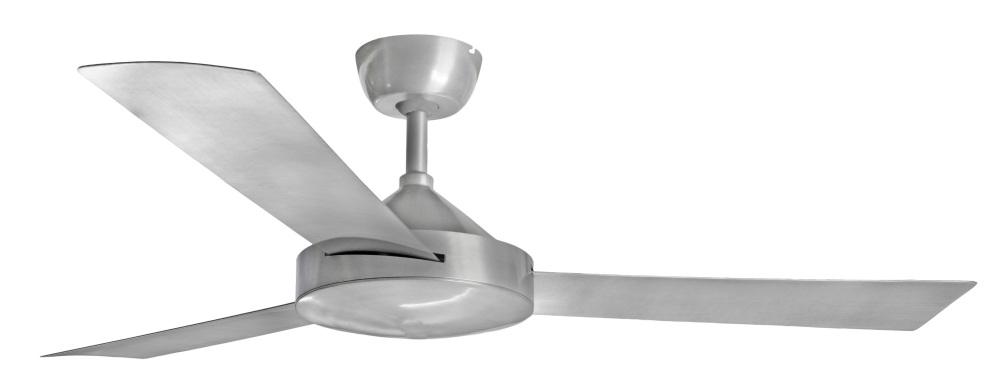 Contemporary Milano Brushed Al No Light (3 Blade) AC Motor Fan