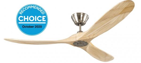 Slider Junior Brushed steel with Nature wood blade ( solid timber) (NO LIGHT)